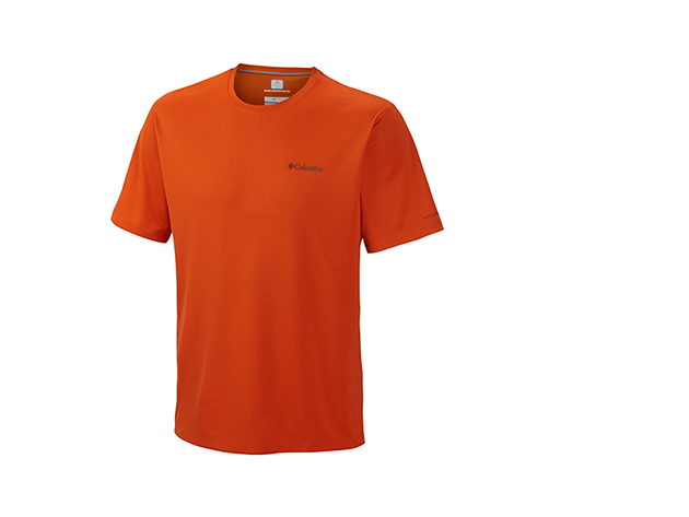 Columbia férfi technikai póló / AM6084k_866 Zero Rules Short Sleeve Shirt / L méret - BORDÓ