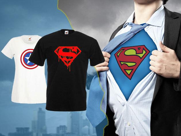 Sportos női és férfi pólók szuperhősös mintákkal a663bd3ad2