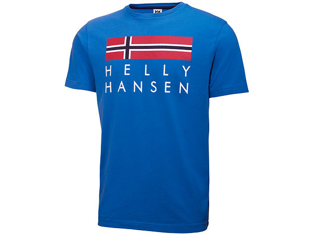 Helly Hansen GRAPHIC SS T-SHIRT RACER BLUE M (51587_535-M)