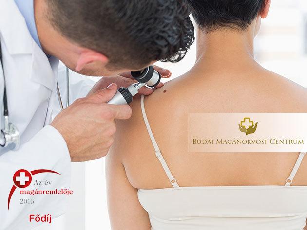 Melanoma vagy egyéb bőrbetegségek szűrése - ekcéma, pikkelysömör - dermatoszkópos szűrővizsgálat az egész testfelületen, a XI. kerületben
