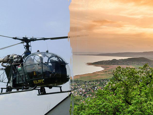 Helikopteres sétarepülés a Balaton fölött, 4 személy részére (15 perc) - a legkalandosabb nyári program