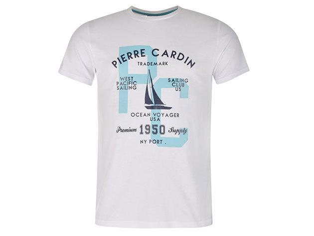 Pierre Cardin férfi vitorlás póló (59923001_SM) FEHÉR