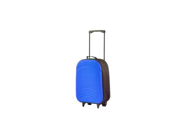 Gurulós, összehajtható bőrönd - KÉK (Méret: 35×50×16,5 cm)