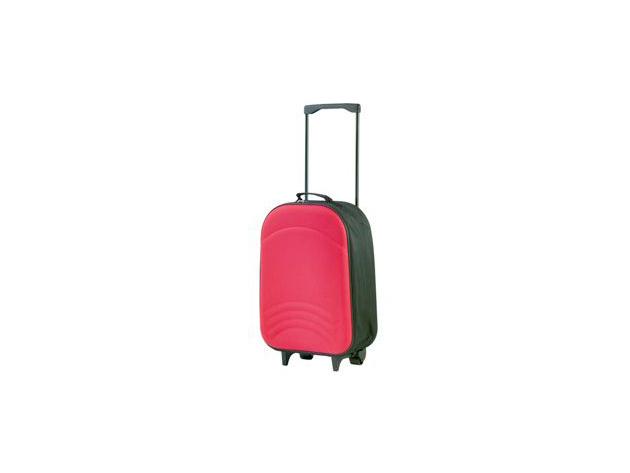 Gurulós, összehajtható bőrönd - PIROS (Méret: 35×50×16,5 cm)