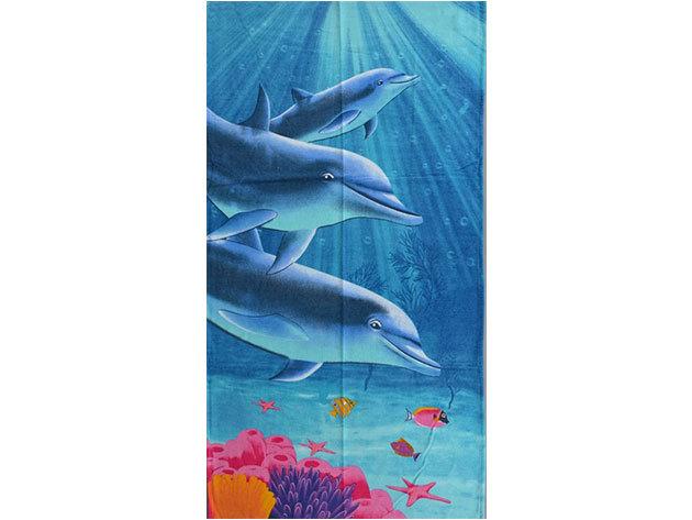 Delfines strandtörölköző
