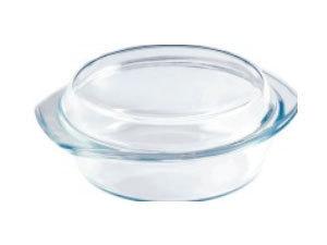Hőáló üvegtál fedővel, 2 literes / BL-2008