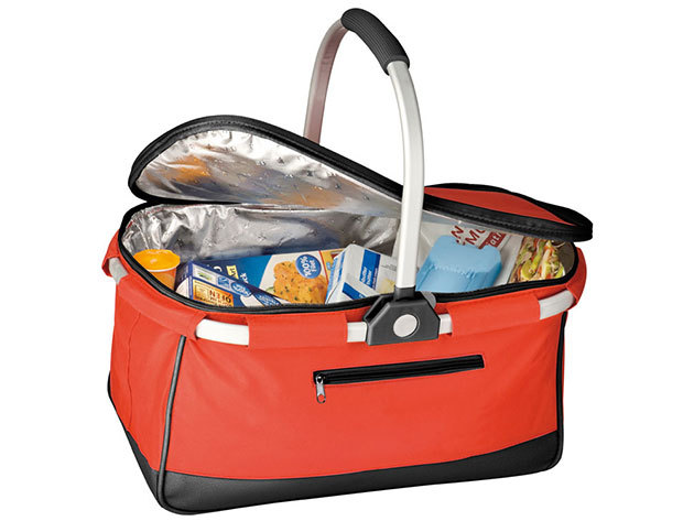 Praktikus bevásárlókosár, poliészterből, hűtő funkcióval / 68763