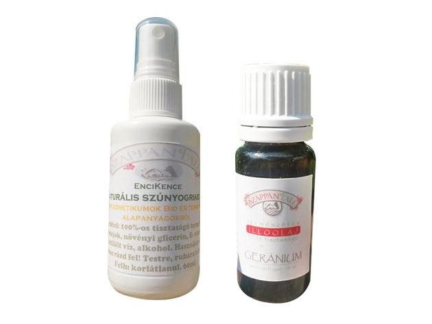 Geránium - Kullancsriasztó (10 ml) + szúnyogriasztó spray (120 ml) - csomagban