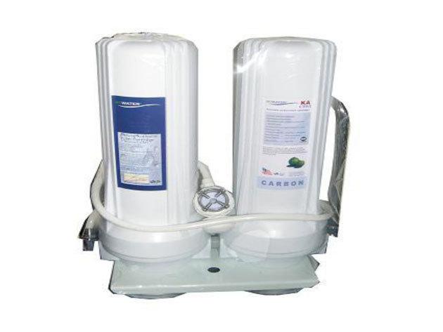 Házi víztisztító készülék 2 fokozatú szűrőrendszerrel