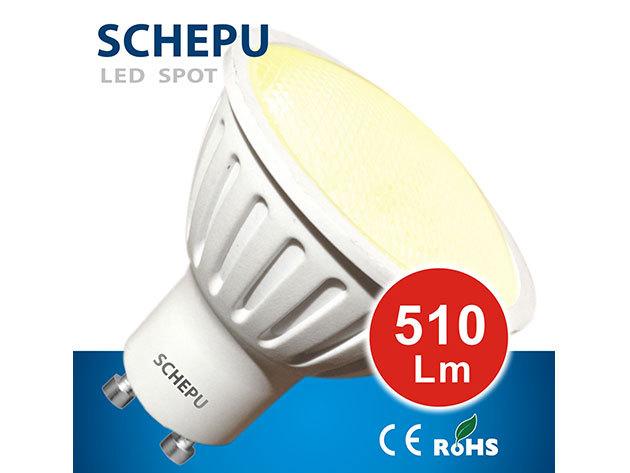 Schepu 6W Spot LED izzó GU10-es foglalattal (fényáram:510lm)- SCSPW6GU10P01527K
