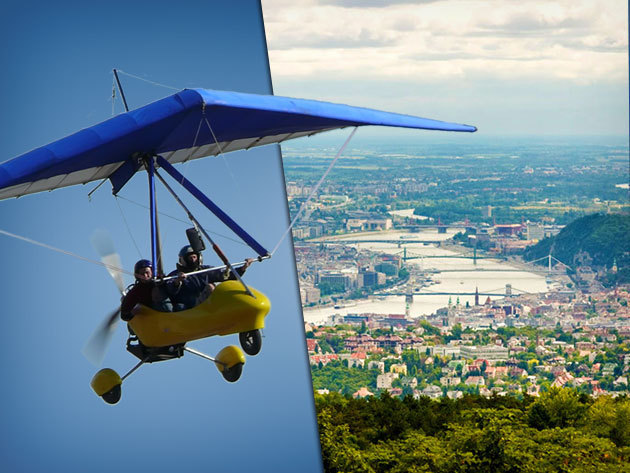 Ajándékozz élményrepülést motoros sárkányrepülővel, akár videó felvétellel, Budapest körzetében - 20 perc a magasban