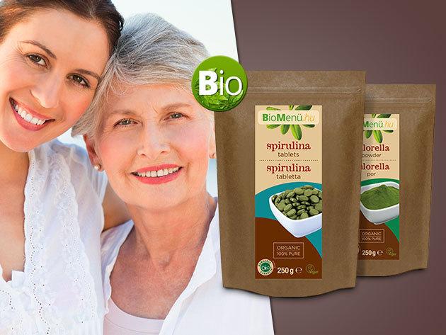 Bio Chlorella- és Spirulina alga kivonatot tartalmazó étrend-kiegészítő készítmények