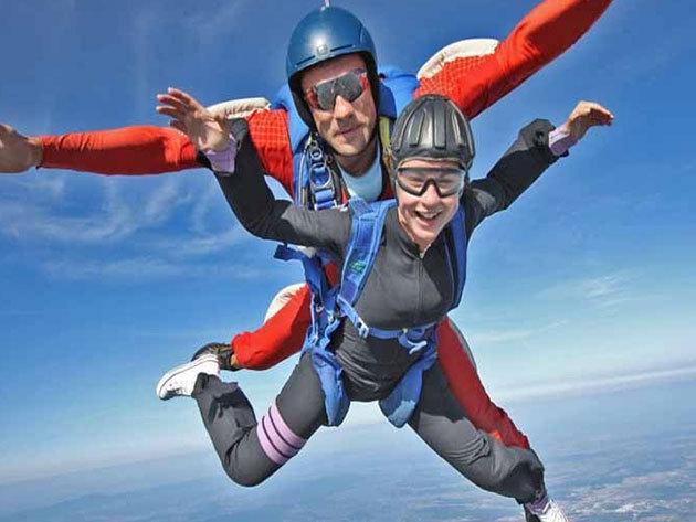 Tandemugrás 4000 méterről - felvétel külső kamerával