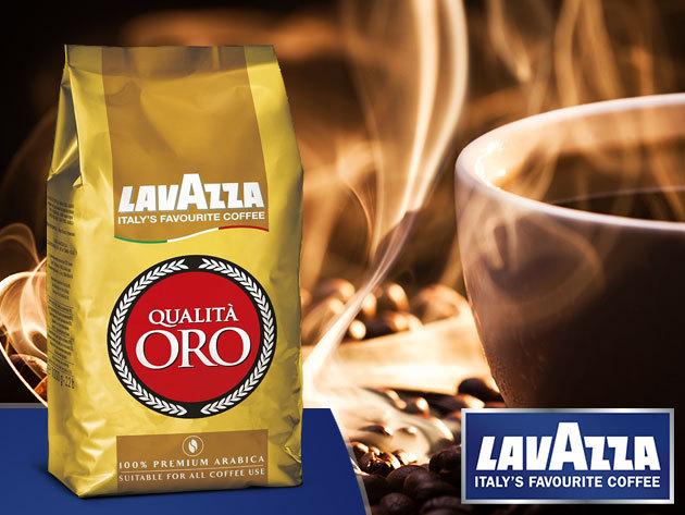 LAVAZZA Qualita ORO - 100% Arabica, prémium olasz szemes kávé (1000g) - AZONNAL ÁTVEHETŐ, 20% egyenleg jóváírást adunk mellé!