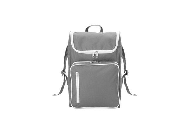 SLIMMY hátizsák 15 inch-es laptoptartó rekesszel - párnázott hátrész és vállpántok (27x12x42cm) - SZÜRKE / mo8577-07