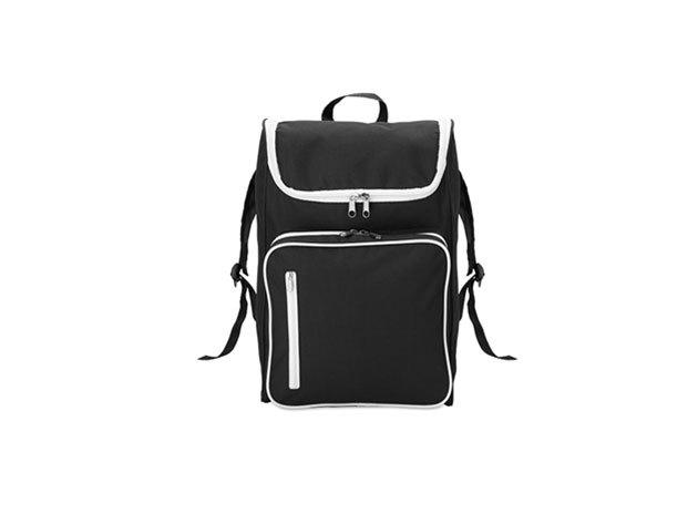 SLIMMY hátizsák 15 inch-es laptoptartó rekesszel - párnázott hátrész és vállpántok (27x12x42cm) - FEKETE / mo8577-03