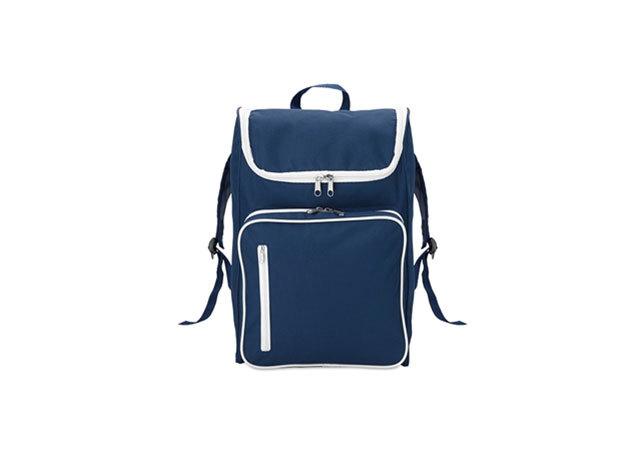 SLIMMY hátizsák 15 inch-es laptoptartó rekesszel - párnázott hátrész és vállpántok (27x12x42cm) - KÉK / mo8577-04