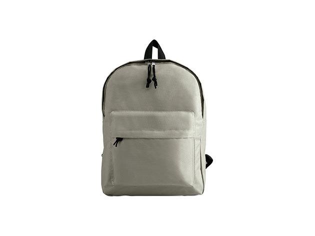 BAPAL hátizsák külső zsebbel és cipzárral (29x11,5x38 cm) - SZÜRKE / kc2364-07