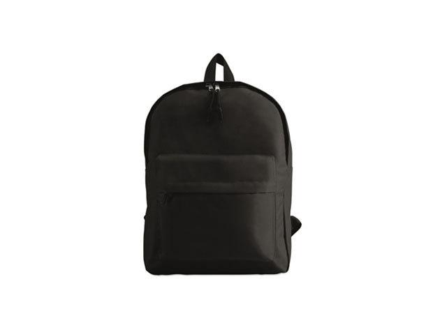 BAPAL hátizsák külső zsebbel és cipzárral (29x11,5x38 cm) - FEKETE / kc2364-03
