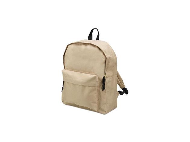 BAPAL hátizsák külső zsebbel és cipzárral (29x11,5x38 cm) - BÉZS / kc2364-13