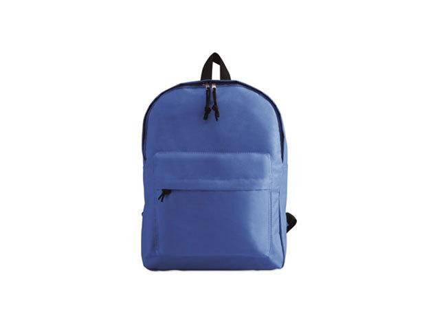 BAPAL hátizsák külső zsebbel és cipzárral (29x11,5x38 cm) - KÉK / kc2364-37