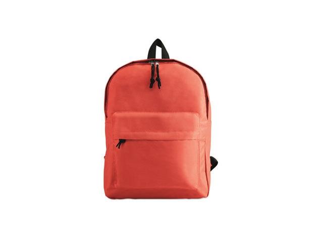 BAPAL hátizsák külső zsebbel és cipzárral (29x11,5x38 cm) - PIROS / kc2364-05