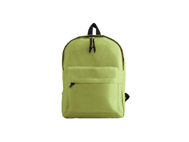 BAPAL hátizsák külső zsebbel és cipzárral (29x11,5x38 cm) - LIME / kc2364-48
