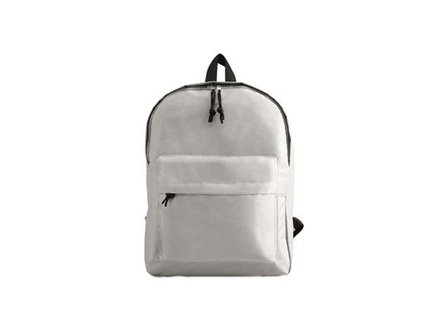 BAPAL hátizsák külső zsebbel és cipzárral (29x11,5x38 cm) - FEHÉR / kc2364-06