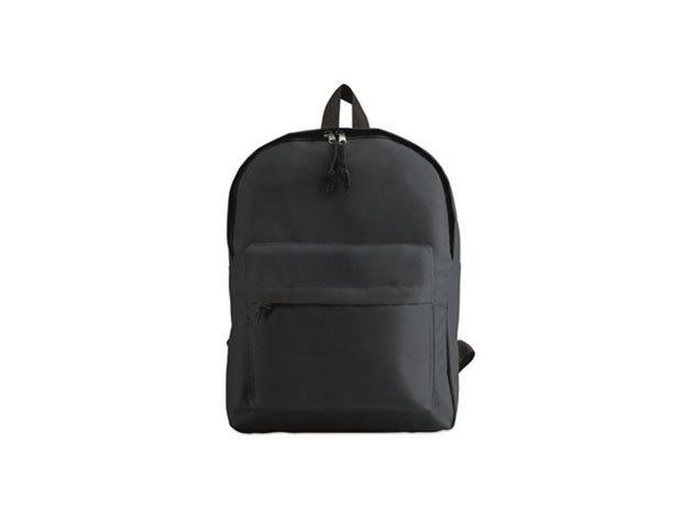 BAPAL hátizsák külső zsebbel és cipzárral (29x11,5x38 cm) - SÖTÉTSZÜRKE / kc2364-04