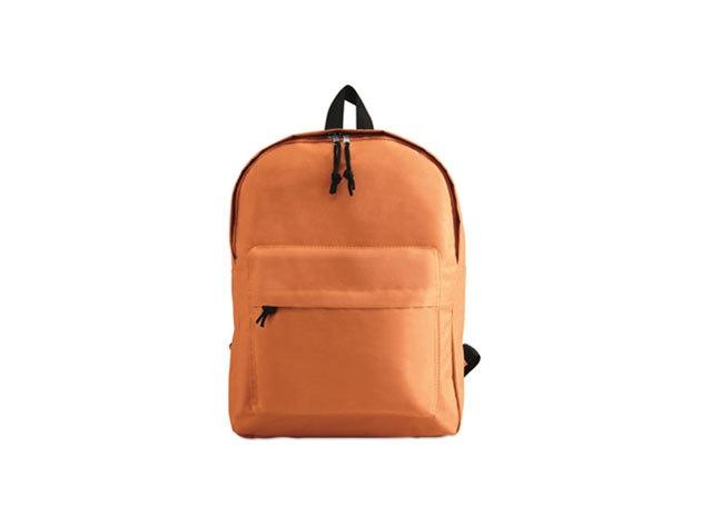 BAPAL hátizsák külső zsebbel és cipzárral (29x11,5x38 cm) - NARANCS / kc2364-10