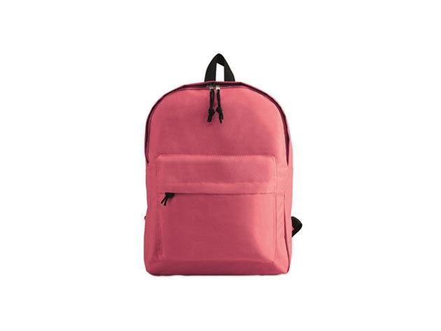 BAPAL hátizsák külső zsebbel és cipzárral (29x11,5x38 cm) - RÓZSASZÍN / kc2364-38