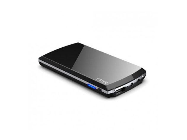 MiLi Power Prince hordozható külső akkumulátor (5000mAh) Fekete, 8 féle csatlakozóval