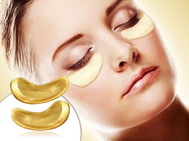 5fee78235d65 Luxus szemmaszk 24 K arannyal és bio-kollagénnel / táplálja a bőrt,  eltünteti a szarkalábakat és halványítja a karikákat