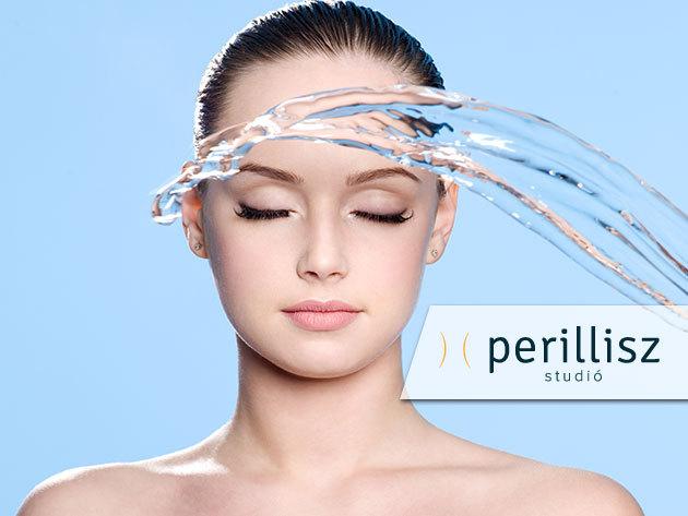 Hydroabráziós arccsiszolás UH-os hatóanyag bejuttatással/ 1 vagy 3 alkalom, a Perillisz Stúdióban (V. kerület)
