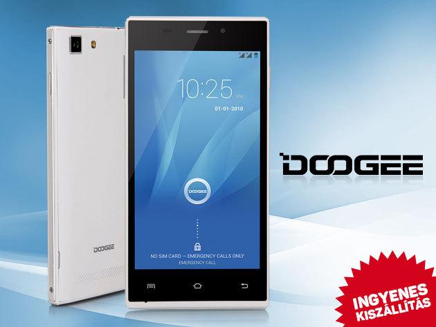 Doogee KISSME DG580 és TURBO-mini F1 okostelefonok - Dual SIM kártya; Android 4.4.; DÍJTALAN SZÁLLÍTÁS