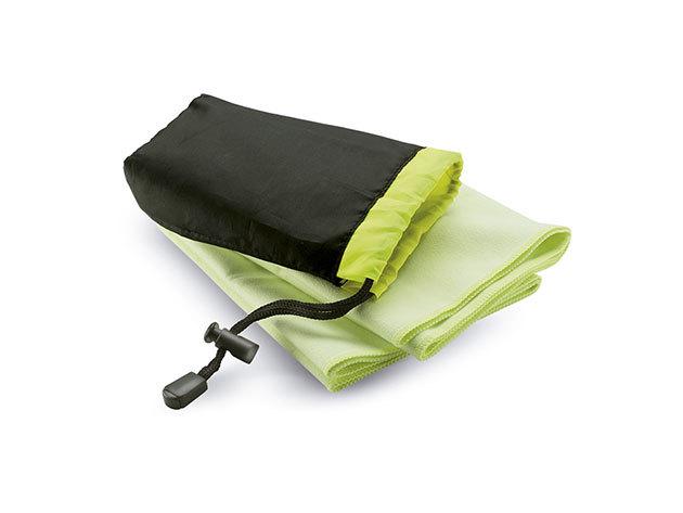 Sporttörölköző praktikus tárolóban - extra nedvszívó, gyorsan száradó, helytakarékos / ZÖLD / kc6333-09