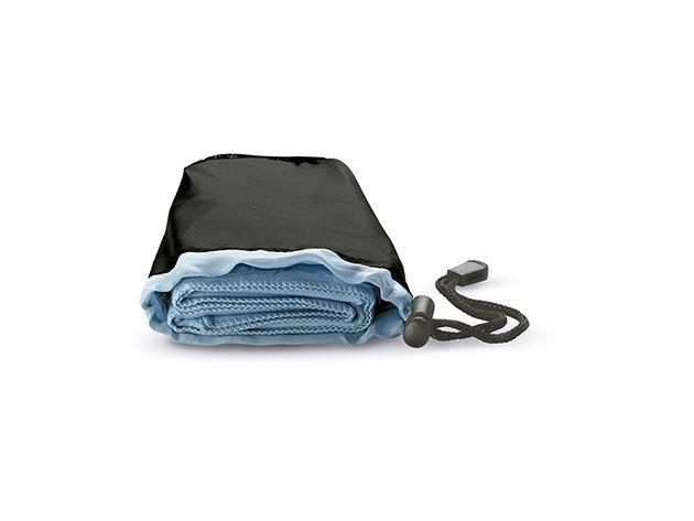 Sporttörölköző praktikus tárolóban - extra nedvszívó, gyorsan száradó, helytakarékos / KÉK / kc6333-04