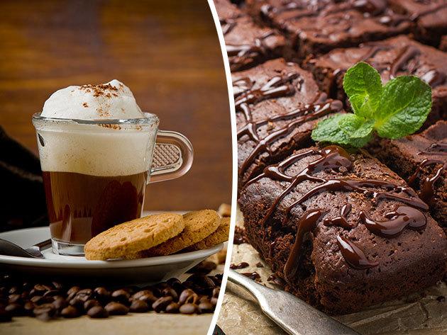 Romantikázz Szentendrén! Duplacsokis brownie eperöntettel + olasz cappuccinó vagy limonádé 2 fő részére a Castrum Café & Restaurant jóvoltából