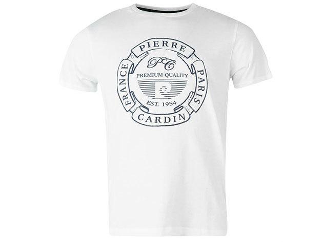 Pierre Cardin férfi póló fehér színben (59961901_SM) - választható méret: XS-4XL
