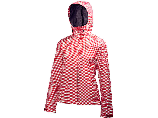 Helly Hansen W NINE K JACKET RED CHECK PRINT S (62300_162-S)
