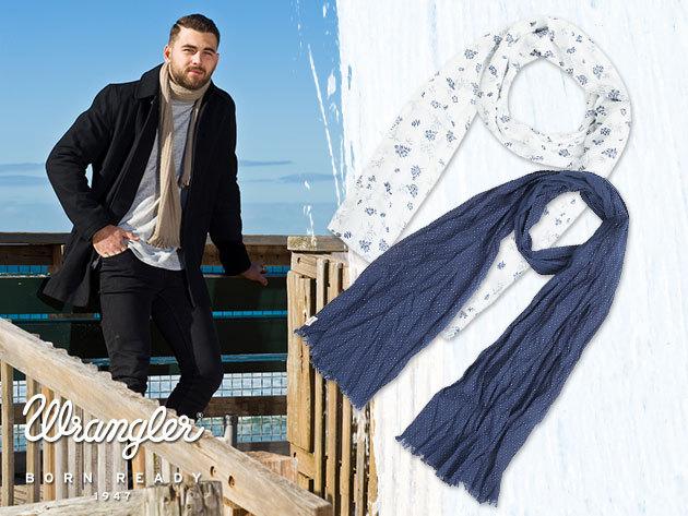 Wrangler férfi és női, nagy méretű pamut sálak - természetes lezser elegancia és minőség!