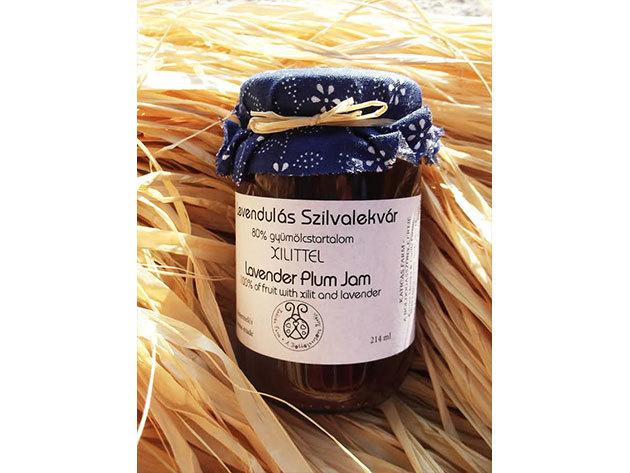 Levendulás szilvalekvár nyírfacukorral, tartósítószer mentesen (214 ml)