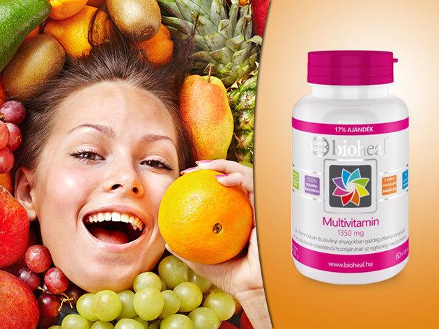Multivitamin 1350 mg, bioheal® - őszi vitaminbomba, mely 11 vitamint és ásványi anyagot tartalmaz (70 db kapszula)