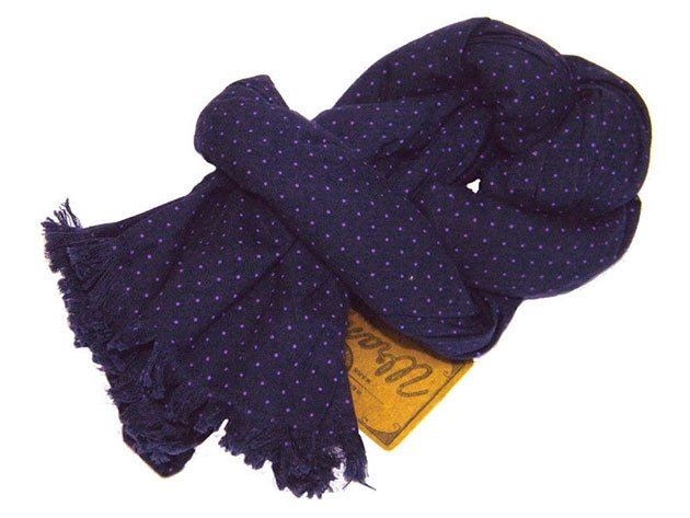 Wrangler férfi sál DOTTED SCARF 42x180 DRESS BLUE (W08471P20)