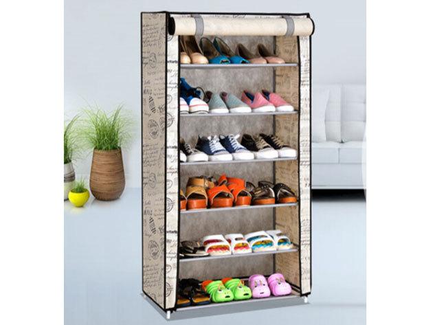 5 szintes cipőtároló (KT2800-WD) 59x29x90cm