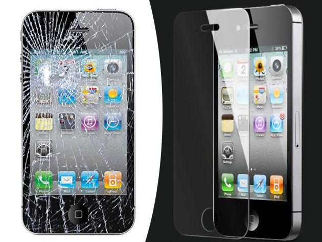 iPhone 4/4S kijelző csere + üvegfólia felrakás az extra védelemért, a Ferenciek terénél!