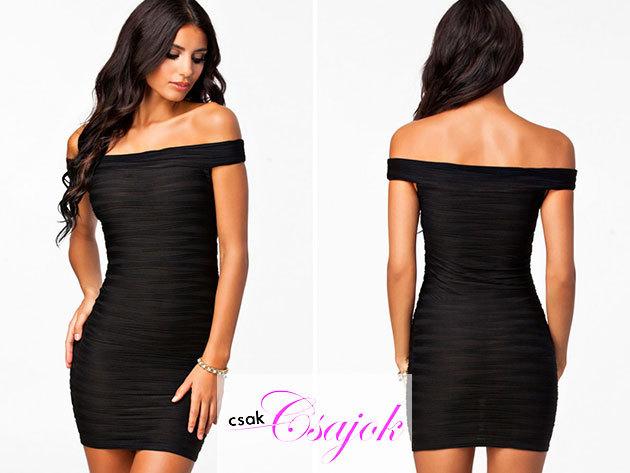 Szexi oldalpántos Bodycon koktélruha - mert az a bizonyos 'kis fekete' kötelező darab minden nő számára