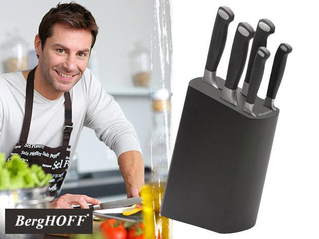 BergHOFF Bistro 6 részes késkészlet magas minőségű rozsdamentes acél éllel, praktikus tárolóval