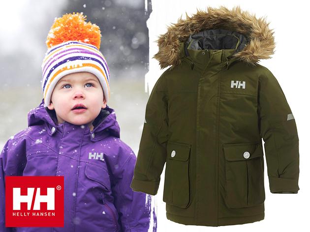 Helly hansen K LEGACY PARKA vízálló, szélálló, lélegző téli kabát gyerekeknek (1-9 éveseknek) PrimaLoft®Black szigeteléssel
