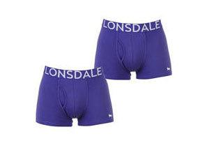 Lonsdale 2 db-os boxer alsó csomag - LILA (42201124_SM) Méret: S-XXL
